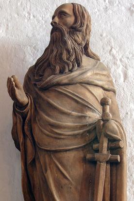 Paulus-Skulptur in der Andreaskirche Kuddewörde - Copyright: Manfred Maronde