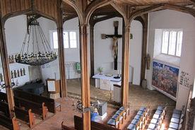 Innenansicht der Andreaskirche Kuddewörde von der Empore aus - Copyright: Manfred Maronde